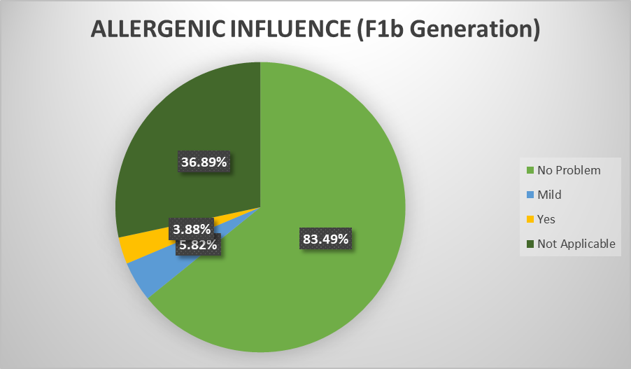 Percentage of F1b doodles that are hypoallergenic